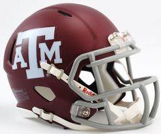 Texas A&M Aggies Riddell Mini Speed Helmet - Matte Maroon
