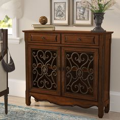 Great deal Mauzy 2 Drawer 2 Door Accent Cabinet By Lark Manor Furniture Handles, Hooker Furniture, Cheap Furniture, Kitchen Furniture, Smart Furniture, Furniture Removal, Cabinet Furniture, Craft Cabinet, Wood Drawers