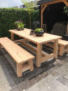Woodworking Projects Diy, Diy Projects, Dirty Kitchen, Outdoor Furniture, Outdoor Decor, Oasis, Table, Home Decor, Decoration Home
