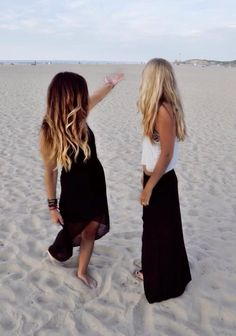 Left: dark brown all the way to blond ombre/sombre. With nice beach waves