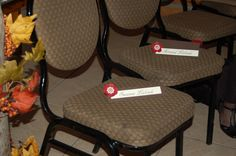 Reserved seating signs for wedding reception.  Found at www.sandpipermemories.com.