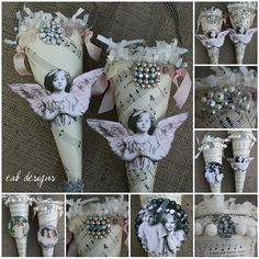 Gorgeous Victorian style Paper cones! These would be so fun to make!