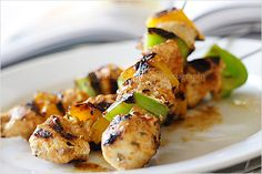 Chicken Kebab (Chicken Kabab) Recipe I'll leave out the pepper flakes. I'm not a spicy kind of person :)