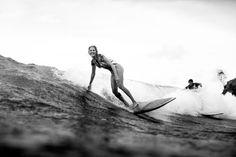 Stephanie Gilmore cruising in Byron Bay