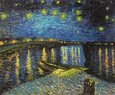 Starry Night Over The Rhone � Vincent Van Gogh