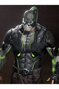 Break all bones with this fashionable and extraordinary Bane Gaming Leather Jacket. This Jacket is inspired form the Video Game Injustice Shop Now! Injustice Characters, Injustice 2 Batman, Green Superhero, Superhero Suits, Batman Suit, Im Batman, Bane Jacket, Arte Dc Comics, Marvel Villains