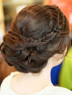 braided+wedding+hairstyles+-+wedding+chignon+with+braid