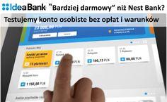 Idea Bank rezygnując z opłaty za kartę uwarunkowanej płatnościami bezgotówkowymi zaoferował całkowicie darmowe konto osobiste bez warunków. Z dumnie brzmiącą nazwą: Konto Idealne. Sprawdzamy opłaty i opinie dotyczące konta osobistego w Idea Banku. Czy będzie lepsze od bezwarunkowo darmowego Nest Konta w Nest Banku? http://antyhaczyk.blogspot.com/2017/06/konto-idealne-idea-bank-oplaty.html
