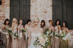 Unique Wedding Ideas: Add Sparkle with Sequins - bridesmaid dress; Tyler Branch via Green Wedding Shoes