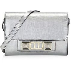 Proenza Schouler Metallic New Linosa Leather Mini Bag ($1,595) ❤ liked on Polyvore featuring bags, handbags, shoulder bags, hand bags, mini purse, leather man bags, leather hand bags and leather purses #handbagsandpurses