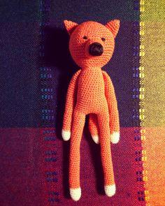 Szydełkowy lis/crochet fox made by kulkizfilcu