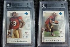 (2) 2001 UD Graded Rookie Series Kevan Barlow Portrait Action RC BGS MINT 9 #/900 #ebay #nfl