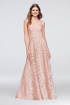 14284747215fb View Long Speechless Dress at David s Bridal Pretty Prom Dresses