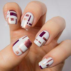manicurator: De Stijl Inspired Nail Art with OPI Mariah Carey - Digit-al Dozen Art Week