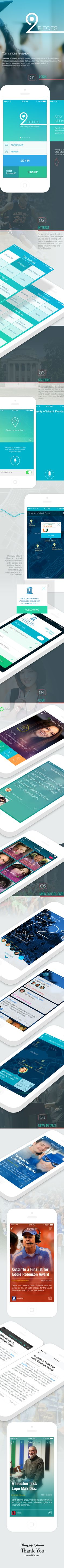 Social Student App IPHONE IOS7 by Yasser Achachi, via Behance