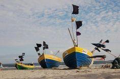 Fisherman boats. Baltic sea - Jantar, POLAND.