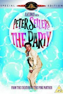 The Party (film) The Party is a 1968 comedy film directed by Blake Edwards, starring Peter Sellers and Claudine Longet.  I love this movie!  It is so funny!  Sellers's was a comedy great!  At least once a year I get together with family to watch this.  :)