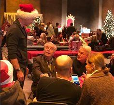 Brian, Robert Wagner and Mark Harmon Christmas Party NCIS 2016