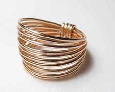 Gold Wide Band Ring