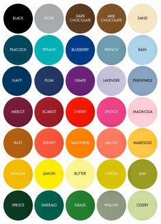 Paleta de cores para organizar o guarda-roupa. @santohelp