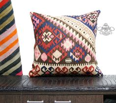 Nomadic Vintage Turkish Handwoven Decorative by AnatoliaCollection