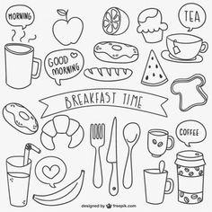 Resultado de imagem para doodles food