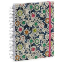 Blue lolly floral A5 thick notebook - Notebooks - Stationery