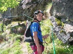 """A Gressoney Saint Jean (Valle d'Aosta) la via ferrata """"Jose Angster"""" offre un itinerario per i bambini, con un dislivello di 250 metri."""