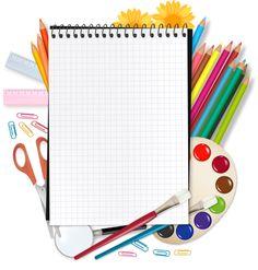 Back to school. notepad with school supplies. Happy Love, Happy Kids, Image Pinterest, School Border, School Equipment, School Frame, School Scrapbook, School Clipart, Borders And Frames