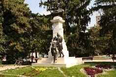 "File:Grupul statuar "" Traian"" - Piata Traian - in parc - Braila Romania, Statue Of Liberty, Urban, Unique, Travel, Liberty Statue, Voyage, Trips, Viajes"