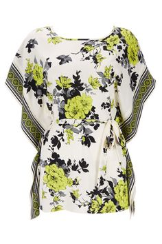 Lime Green Foral Top