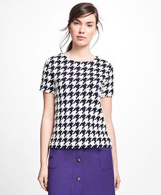 Jacquard Houndstooth Top
