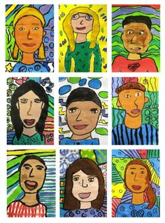 Matisse-Inspired portraits art lesson
