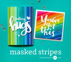 Masked Stripes Video by Jennifer McGuire Ink