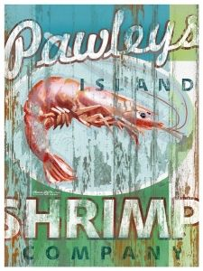 Pawley's Island Shrimp Artwork