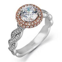 087f222e1c1 Shop online SIMON G MR2133 Halo 18K - White Gold Diamond Engagement Ring at  Arthur s Jewelers