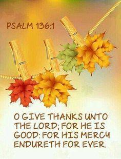 Psalm 136:1 KJV