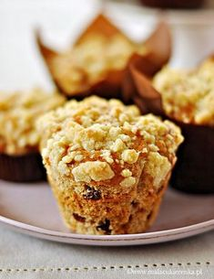 muffiny z jablkiem krowkami i kruszonka