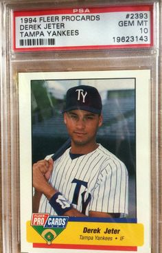 056a2dfcca0 1994 Derek Jeter Fleer Pro Cards PSA 10 Gem Mint New York   Tampa Yankees