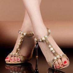 Etsy listing at https://www.etsy.com/listing/193053502/golden-sandals-gold-summer-high-heeled