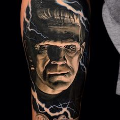 "1,090 Likes, 5 Comments - @horror_sketches on Instagram: ""[Tattoo By: @nikkohurtado] Frankenstein (1931)"""