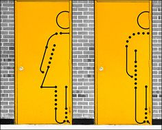 Restroom Icons Drawn to Scale
