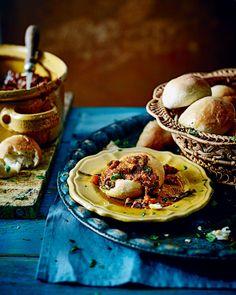 short-rib ragù with gnocchi buns - A slow-cooked beef short-rib ragu ...
