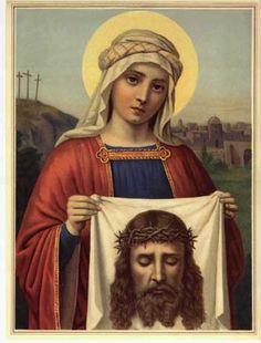 Saint Veronica....Hoy al abrir mis ojos, se hizo presente en mi alma tu Santo Rostro, gracias Jesús por cuanto nos amas, a pesar de ser tan ingratos a ti.