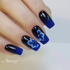 90 Inspirational Blue Nail Art Designs and Ideas Spring 2018 Best Nail Art Designs, Nail Designs Spring, Blue Nail Designs, Spring Design, Blue Design, Design Art, Design Ideas, Trendy Nail Art, Cool Nail Art