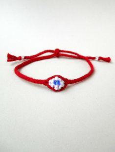 Cotton evil eye March bracelet Martis Martisor Martenitsa
