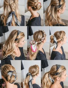 Scarf hairstyles - How to Wear a Hair Scarf 9 Cool Ways to Look Stylish – Scarf hairstyles Loose Hairstyles, Scarf Hairstyles, Pretty Hairstyles, Braided Hairstyles, Bandana Hairstyles For Long Hair, Running Hairstyles, Everyday Hairstyles, Hair Scarf Styles, Curly Hair Styles