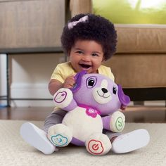 Vtech Leapfrog My Pal Violet Personalized Plush Learning Toy Custom Baby Gifts, Personalized Baby Gifts, Bedtime Music, Baby Learning Toys, Toys Uk, Popular Toys, Toy Puppies, Toy Craft