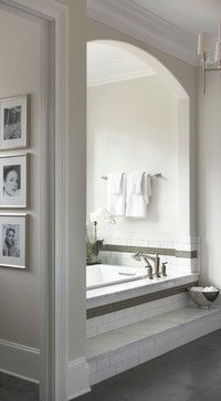 I love this alcove in the Master Bath for the tub. - Modern Home with Elegant Interiors The elegance of the master suite continues into the master bath. Luxury Interior Design, Interior Design Inspiration, Bathroom Inspiration, Design Ideas, Interior Modern, Interior Ideas, Design Design, Dream Bathrooms, Beautiful Bathrooms