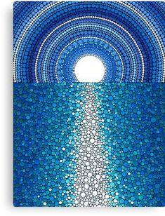 Mandala Art, Mandala Rocks, Mandala Painting, Flower Mandala, Aboriginal Dot Painting, Dot Art Painting, Stone Painting, Abstract Art, Art Paintings